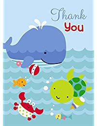 Under the Sea Thank You Note Cards, 8ct BOBEBE Online Baby Store From New York to Miami and Los Angeles
