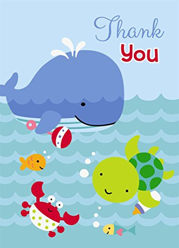 Under the Sea Thank You Note Cards, 8ct (1st Birthday Thank You)