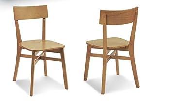 Attirant 2x Retro Stühle Massiv Holzstuhl Esszimmer Design Bauhaus Küchenstühle Loft  Stuhl Bell FSC N002524 Küche Retrostyle