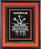 Color Trim Framed Plaque, Orange, w/6210 & Dbl. Plate