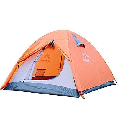2 personnes Tente Poteau en verre à l'extérieur Pluie au vent Famille Camping Tourisme Tentes Tente instantanée instantanée