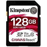 Kingston Canvas React 128GB SDXC Class 10 SD Memory Card UHS-I100MB/s R Flash Memory High Speed SD Card SDR/128GB