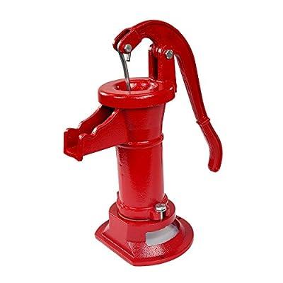 XtremepowerUS Pitcher Hand Water Pump Cast Iron Press Suction Outdoor Yard Ponds Garden