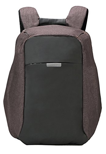 "HONEYJOY Anti-theft Travel Backpack Business Laptop to 15.6 inch Computer Durable School Bag with USB Charging Port for College Student Men & Women (11""16.9""4.9"", Coffee)"