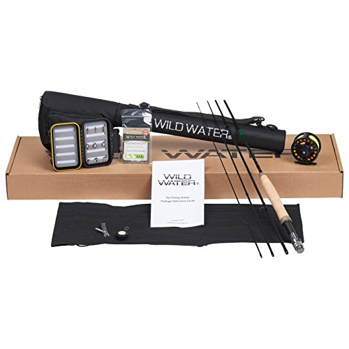 Wild Water Fly Fishing Rod and Reel Combo 4 Piece Fly Rod 3/4 7' Complete Starter Package
