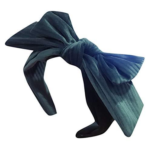 JIUDASG Women's Headwear Bow Fabric Hairband Head Wrap Hair Band Accessories -