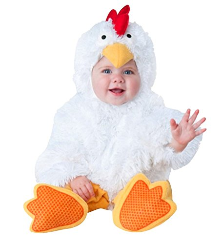 Chicken Baby Costume (White Chicken Costume Infant, Baby Boy Girl Cute Halloween Cock Cosplay Outfit 6 Months-2T (12 Months))