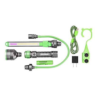 OEMTOOLS 24648 Modular Work Light All-in-One Flexible Extension UV Inspection Attachment Mechanic's Rechargeable Lightweight Drop Resistant Flashlight