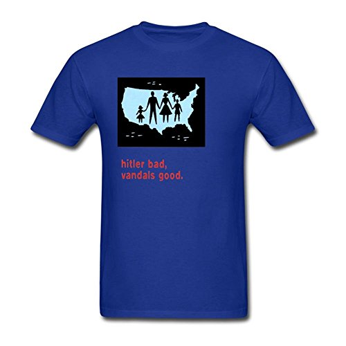Price comparison product image Men's The Vandals Hitler Bad Vandals Good Short Sleeve T-Shirt