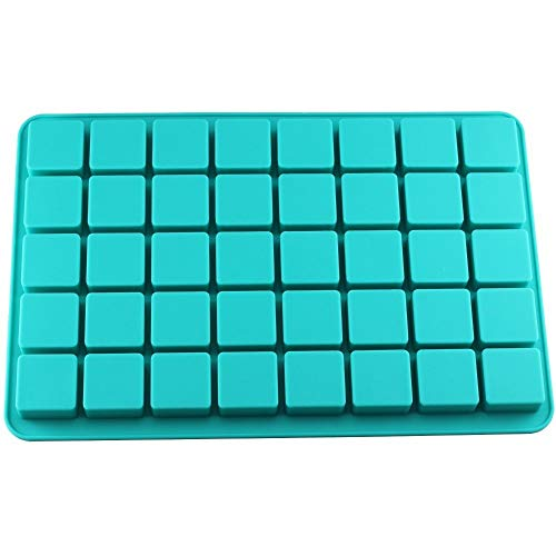 DHmart 40 Cavities Square Caramel Candy Silicone Molds for Chocolate Truffles Mold Jelly Ice Tray Mould Cake Decorating Tools -