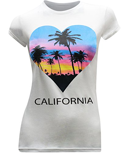 California Republic Love Women's Fitted T-Shirt - (X-Large) - White