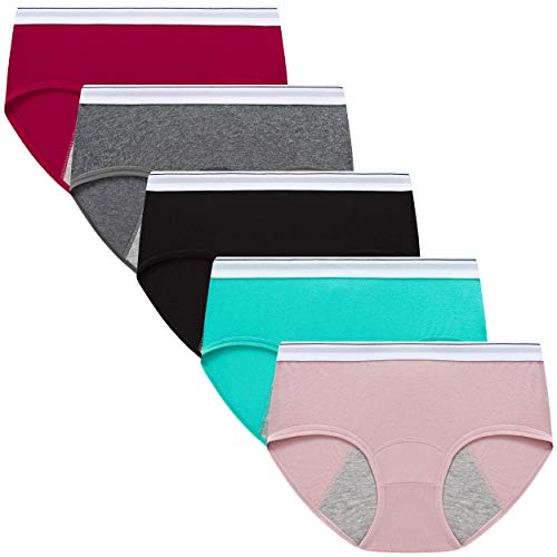 Finihen Teens Girls Cotton Period Panties Leak Proof Hipster Menstrual Women Postpartum Briefs