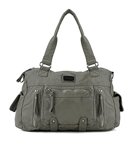 Scarleton Soft Multi Pocket Shoulder Bag H163024 - (Multi Pocket Tote Handbag)
