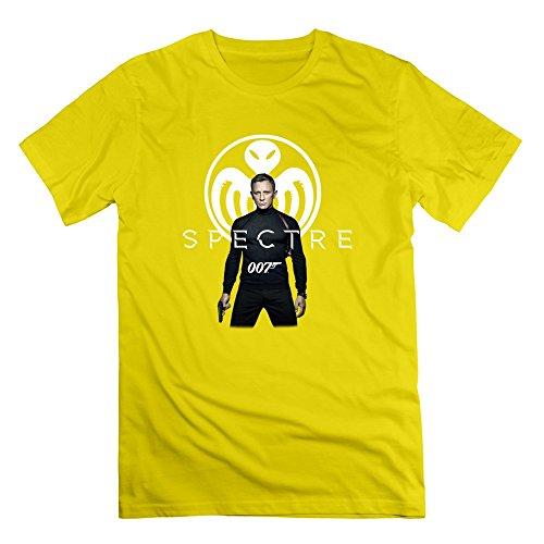 NANAN Men 007 Spectre 2015 James Bond T-shirt Yellow XS