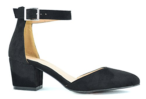 Pump 1 Heel Chase Jason Black Shoes Pointy amp; Chloe Chunky Womens Toe DOrsay qTvTnRfwt