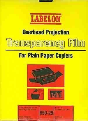 - Overhead Projection Transparency Film for Plain Paper Copiers by Labelon