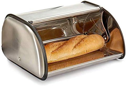 casa imabo Panera con Tapa Deslizante de Acero Inoxidable Ideal para conservar el Pan Condiciones