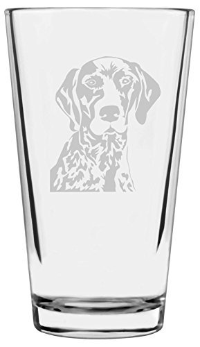 German Shorthaired Pointer Dog Themed Etched All Purpose 16oz Libbey Pint Glass