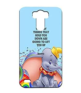 Classic Funda Para Lg G3 Dumbo Quotes, Disney Funny Quotes Slim Thin Hard Back 3d Cover