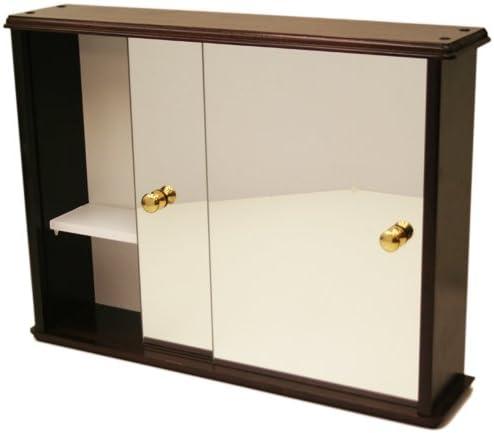 Madera de pino maciza Deluxe para puerta corredera de baño/inodoro armario de pared con espejo 61 x 46 x 13 cm rojo caoba: Amazon.es: Hogar