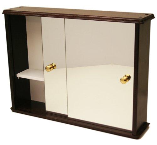 Solid Pine Deluxe Sliding Door Bathroom / Toilet Wall Cabinet with ...