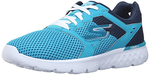 Skechers Performance Womens Go Run 400 Scarpa Da Running, Verde Acqua / Blu Navy, 6,5 M Us