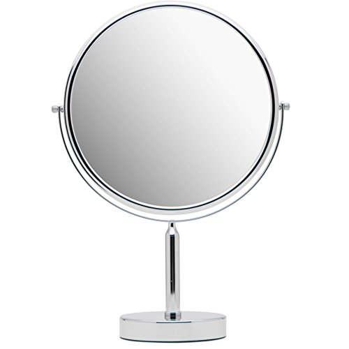 Mirrorvana XXLarge 11-Inch Oversized Magnifying Makeup Mirror with Stand, Double Sided 3x/1x - Foam Shaving Mirrors Bathroom