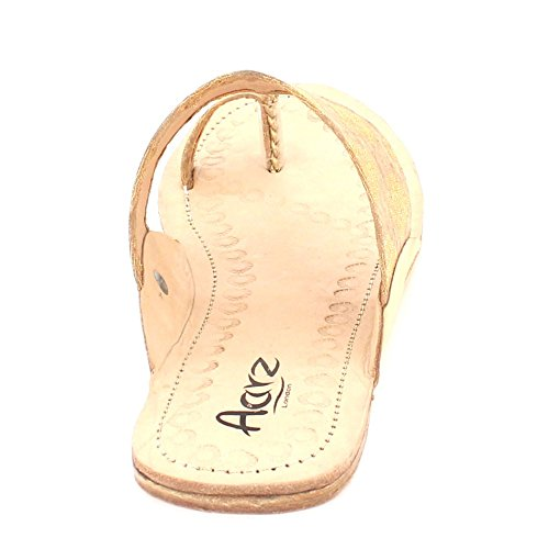 Kolhapuri London Chappal D Dames Authentique Femmes Aarz Open Toe xTqnfgI