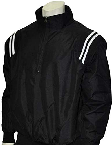 (Adams USA Smitty Umpire 1/2 Zip Long Sleeve Pullover Jacket (Black/White, X-Large))