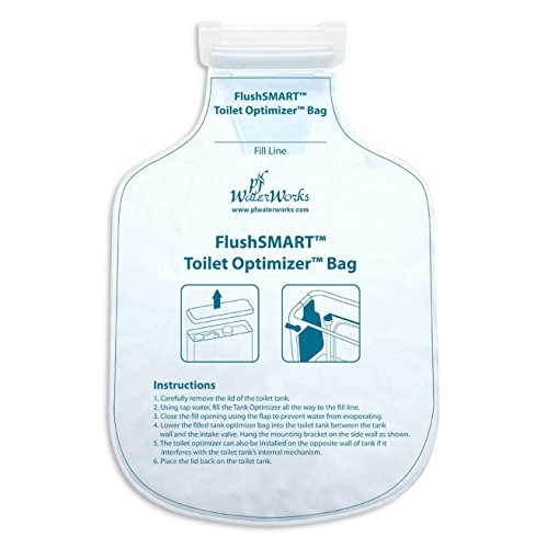 PF WaterWorks FlushSMART Water Saving Toilet Tank Optimizer Insert/Bag; PF0550 by PF WaterWorks