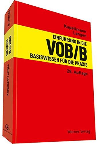 Einführung In Die VOB B  Basiswissen Für Die Praxis
