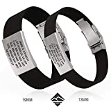 Road ID - Official ID Bracelet - The Wrist ID Elite - 13mm Wide - Silicone Clasp - for Athletes - 4 Colors