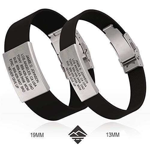 - Road ID Bracelet - Official ID Wristband - Silicone Clasp Identification Bracelet and Sport ID for Athletes