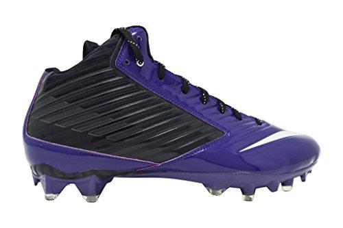 Nike Herren Vapor Speed Low TD geformte Fußballschuh Lila / Schwarz 3/4