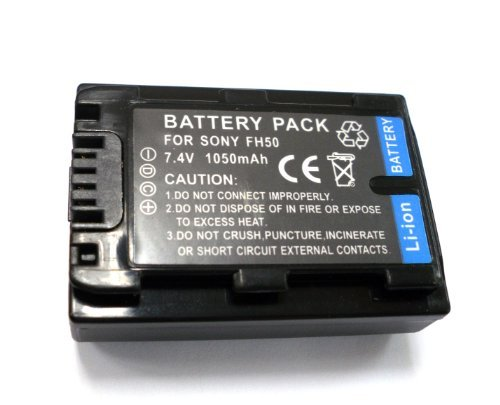 (Digital Camcorder Lithium-Ion Battery for Sony NP-FH50 Compatible with Sony DCR-DVD610, DCR-DVD710, DCR-DVD810, DCR-HC52, DCR-HC54, DCR-HC62, HDR-SR10, HDR-SR10D, HDR-SR11, HDR-SR12, Sony Cyber-Shot DSC-HX1 Series from TechMart)