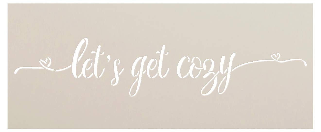 """Let's Get Cozy with Hearts Stencil - 2 Part by StudioR12 