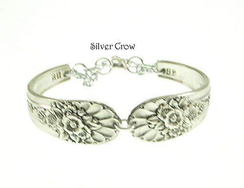 Silverware Bracelet in Vintage Jubilee Pattern Silver Plate