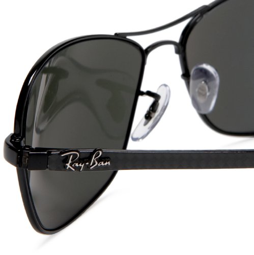 5931c490f5 Amazon.com  Ray-Ban RB8302 - BLACK Frame CRYSTAL POLAR GREEN Lenses 58mm  Polarized  Clothing