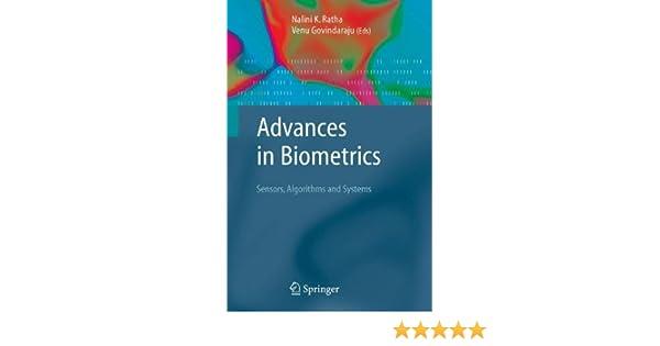 advances in biometrics govindaraju venu ratha n k