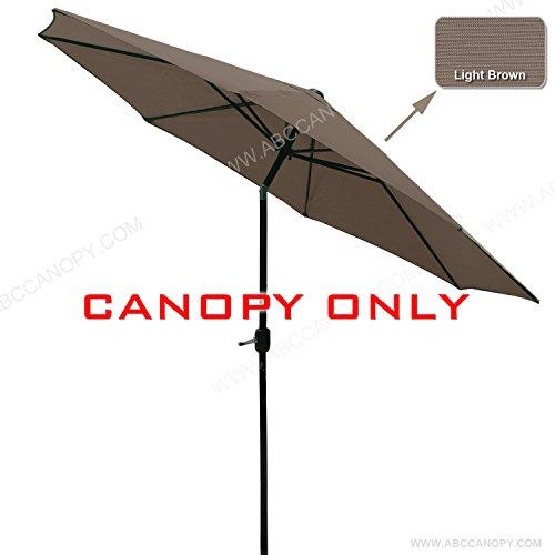 Patio Umbrella Material Replacement: Market Umbrella Replacement Canopy 9FT 8 Ribs UV