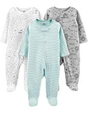 Simple Joys by Carter's Unisex-Baby 3-Pack Neutral Sleep and Play