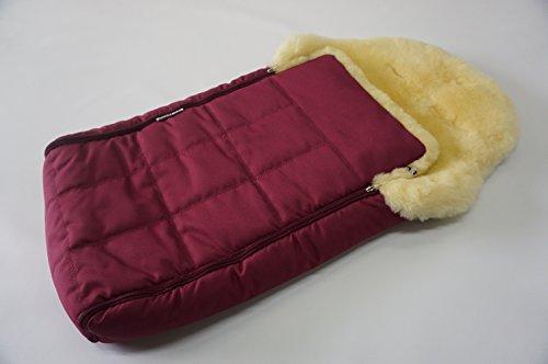 GENUINE MEDICAL SHEEPSKIN BABY FOOTMUFF - PREMIUM QUALITY - SUPER SOFT WOOL - ANTIBACTERIAL - n2 (Cranberry)