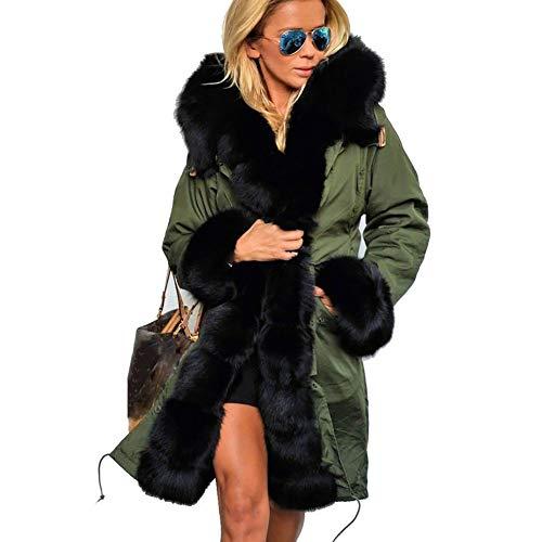 Longue Coton Trench D'automne Capuche Pour Femme Coupe Veste D'hiver À 1pcs Manteau Deepkhaki coat Et En rwz7r