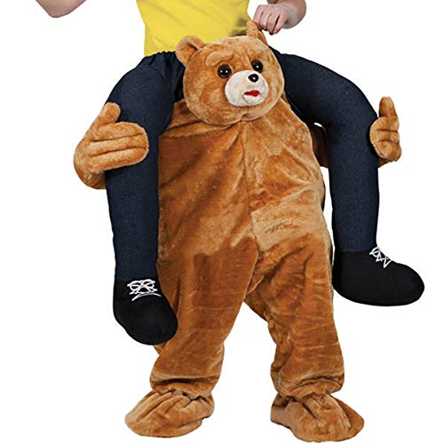 UBCM Teddy Bear Carry Ride On Me Costume Mascot Costume Halloween Party Fancy Dress (Teddy)