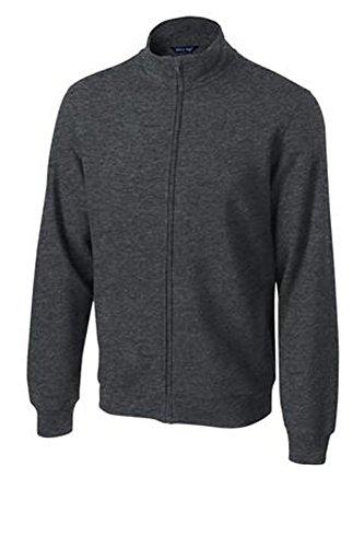 (Sport-Tek ST259 Full-Zip Sweatshirt, Graphite Heather Large)