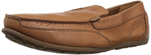 CLARKS Men's Benero Race Driving Style Loafer, Tan Leather, 13 Medium US
