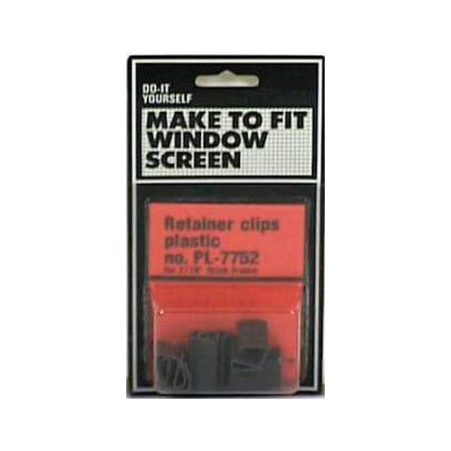 Black Vinyl Prime-Line Products PL 7752 Screen Retainer Clip 3//8-7//16 Pack of 6