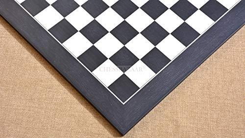Wooden Deluxe Black Anigre Maple Matte Finish Chess Board 22