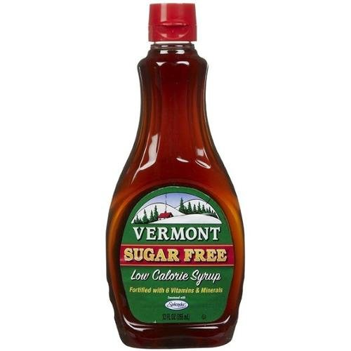 Maple Grove Farms, Vermont Pancake Syrup with Vitamins, Sugar Free, 12 Ounce Vermont Sugar Free Maple Syrup