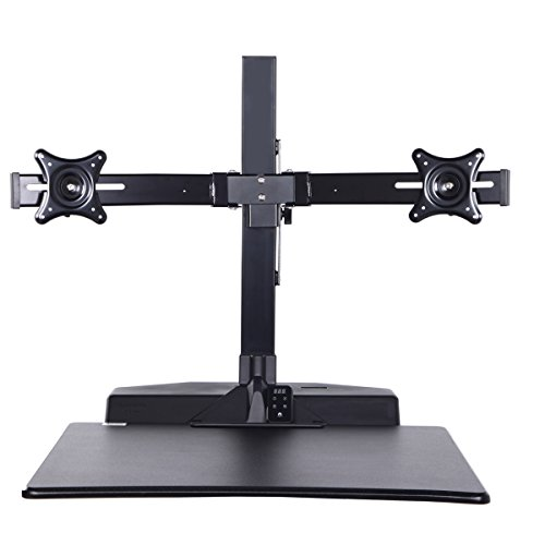 Standing Desk Riser, Freemaxdesk Electric Power Remote Control Height Adjustable Sit to Stand Desk Converter with Monitor Vesa Mount ,Worksuface(26''x21'') by freemaxdesk (Image #8)'